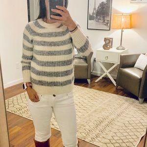 Banana Republic Wool Ivory/Gray Sweater Size XXS